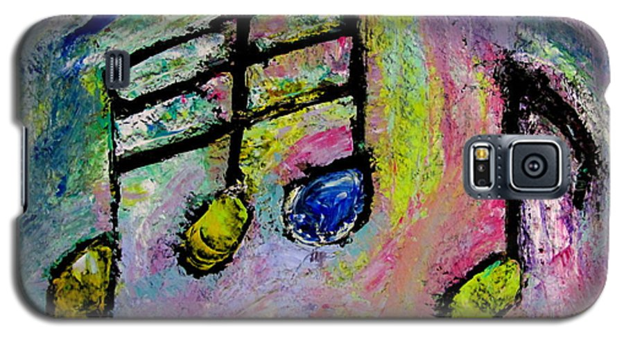 Impressionist Galaxy S5 Case featuring the painting Blue Note by Anita Burgermeister