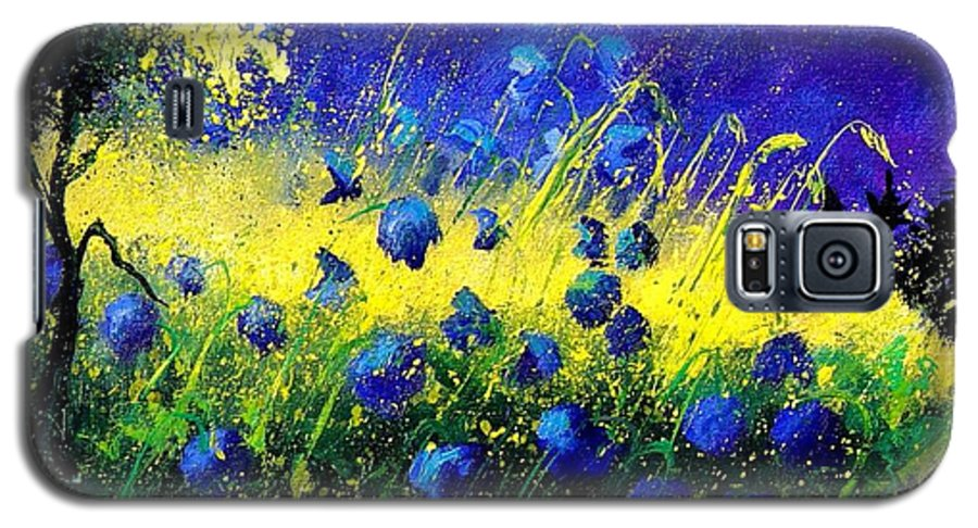 Flowers Galaxy S5 Case featuring the painting Blue Poppies by Pol Ledent