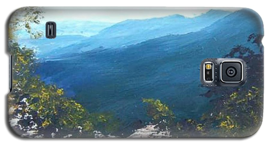 Landscape Galaxy S5 Case featuring the painting Blue Ridge by Tami Booher