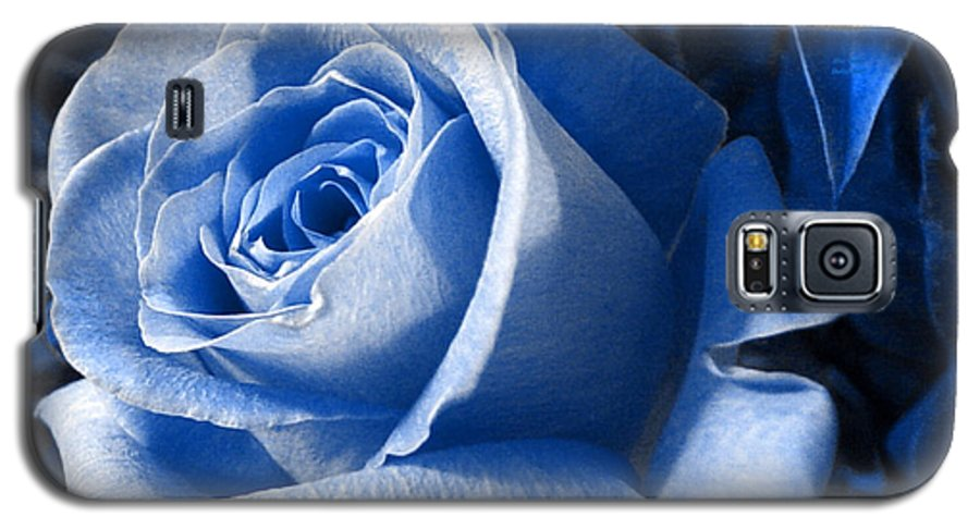 Blue Galaxy S5 Case featuring the photograph Blue Rose by Shelley Jones