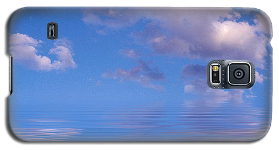 Original Art Galaxy S5 Case featuring the photograph Blue Sky Reflections by Jerry McElroy