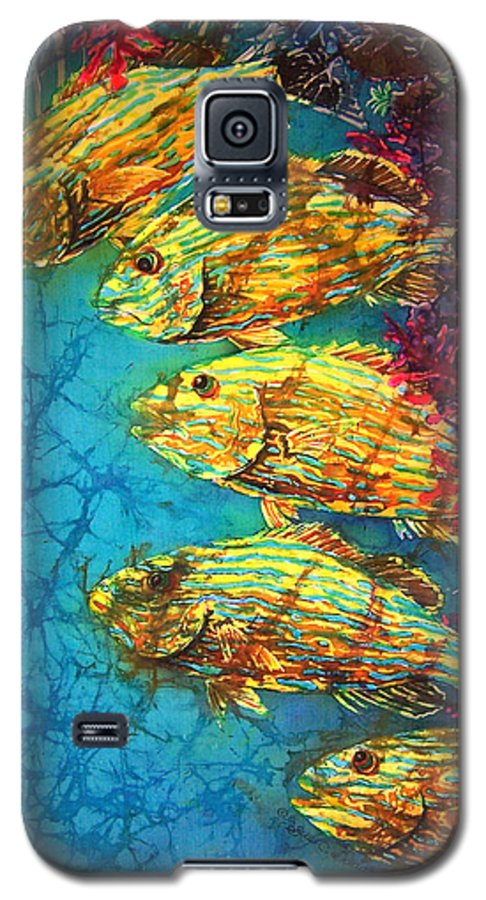 Bluestriped Grunts Galaxy S5 Case featuring the painting Bluestriped Grunts by Sue Duda