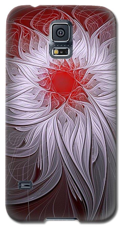 Digital Art Galaxy S5 Case featuring the digital art Blush by Amanda Moore