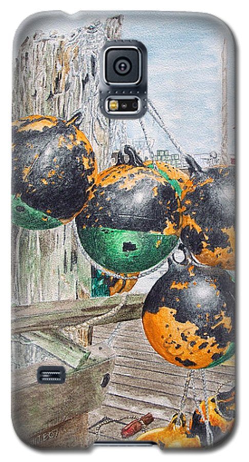 Boat Bumpers Galaxy S5 Case featuring the painting Boat Bumpers by Dominic White
