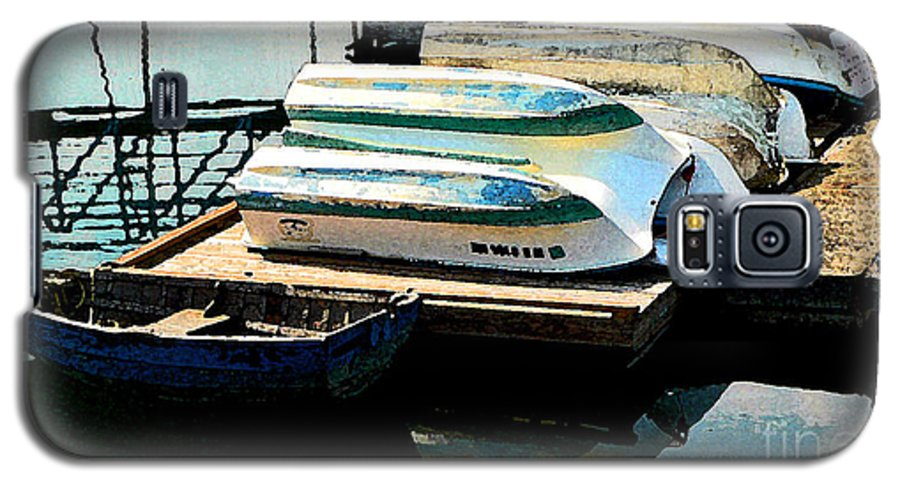 Boats Galaxy S5 Case featuring the photograph Boats In Waiting by Larry Keahey