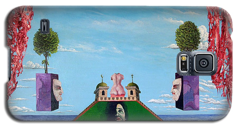 Painting Galaxy S5 Case featuring the painting Bogomils Monastic Retreat by Otto Rapp