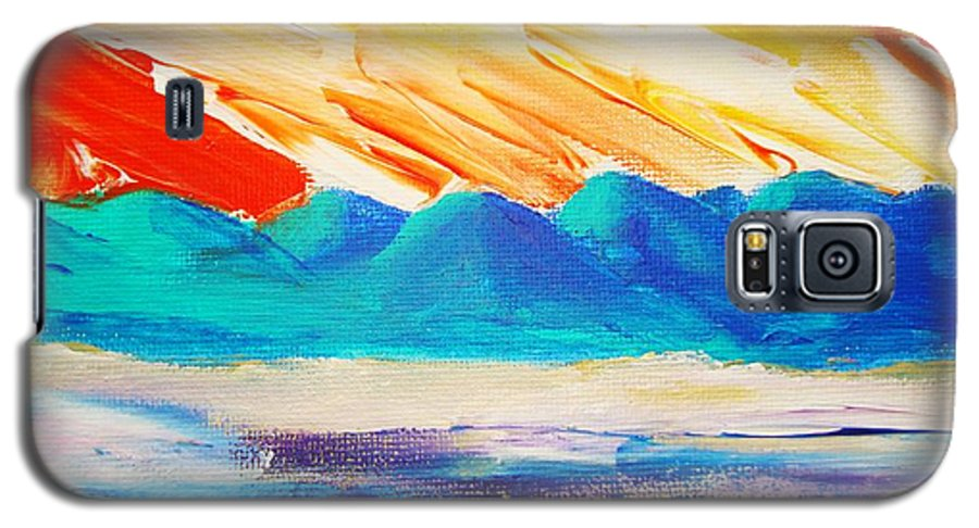 Bright Galaxy S5 Case featuring the painting Bold Day by Melinda Etzold