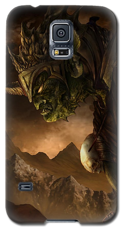 Goblin Galaxy S5 Case featuring the mixed media Bolg The Goblin King by Curtiss Shaffer