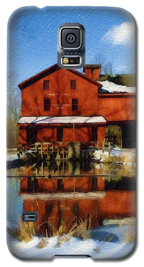 Bonneyville Mill Galaxy S5 Case featuring the photograph Bonneyville In Winter by Sandy MacGowan