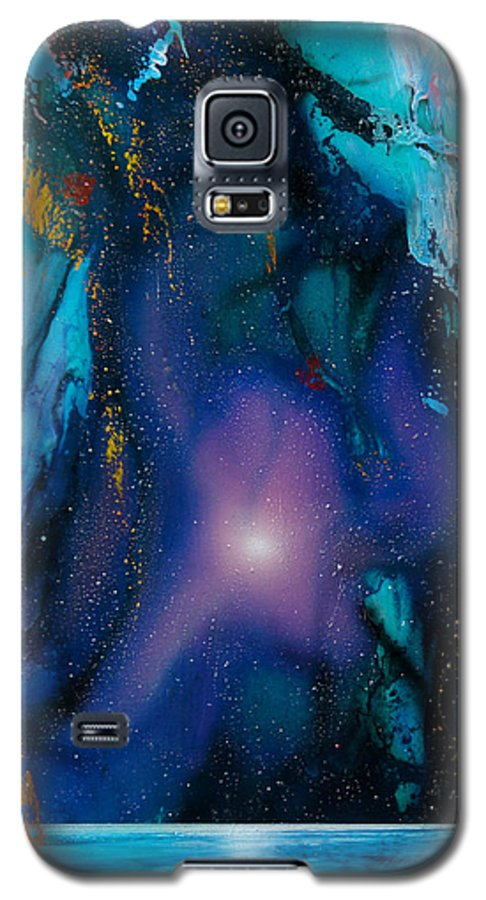Nebula Caribe Galaxy S5 Case featuring the painting Borealis by Angel Ortiz