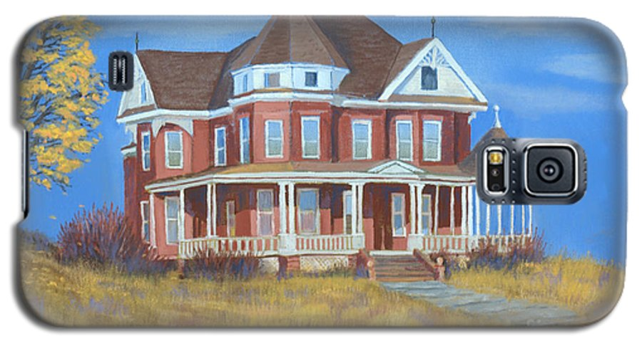 Boulder Galaxy S5 Case featuring the painting Boulder Victorian by Jerry McElroy