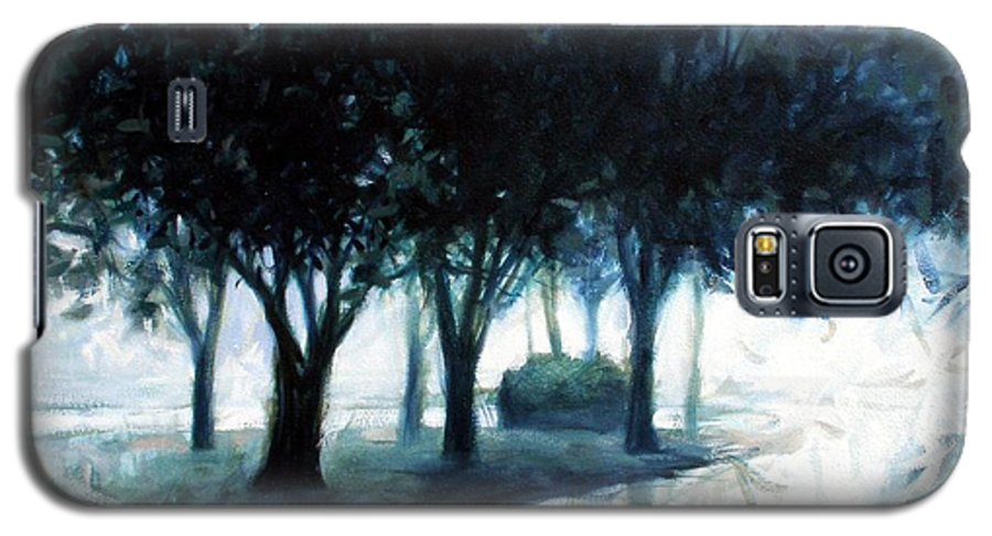 City Scape Galaxy S5 Case featuring the painting Boulevard by Kevin Lawrence Leveque