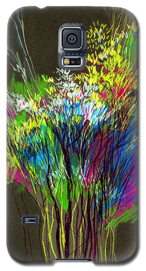 Flowers Galaxy S5 Case featuring the painting Bouquet by Anil Nene