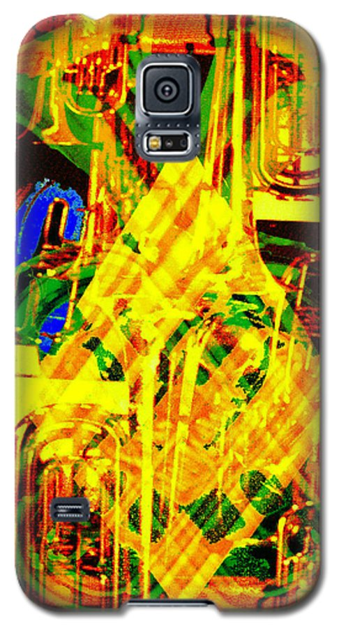 Festive Galaxy S5 Case featuring the digital art Brass Attack by Seth Weaver