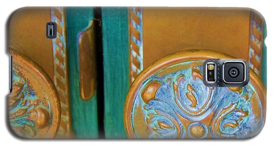 Door Galaxy S5 Case featuring the photograph Brass Is Green by Debbi Granruth
