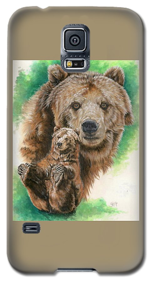 Bear Galaxy S5 Case featuring the mixed media Brawny by Barbara Keith