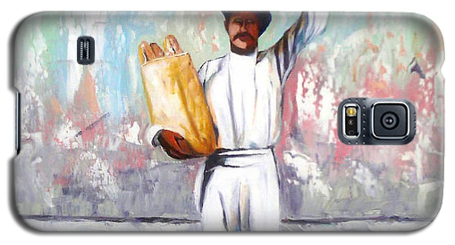 Bread Galaxy S5 Case featuring the painting Breadman by Jose Manuel Abraham