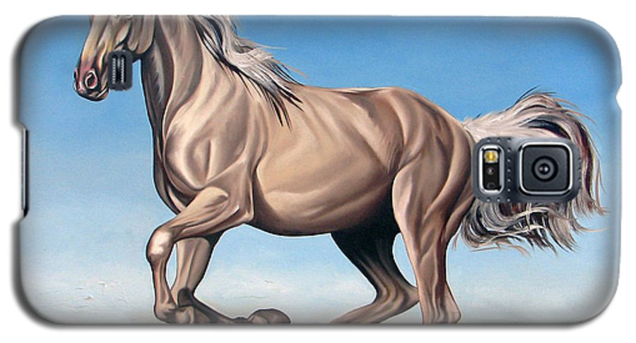 Horse Galaxy S5 Case featuring the painting Breeze by Ilse Kleyn