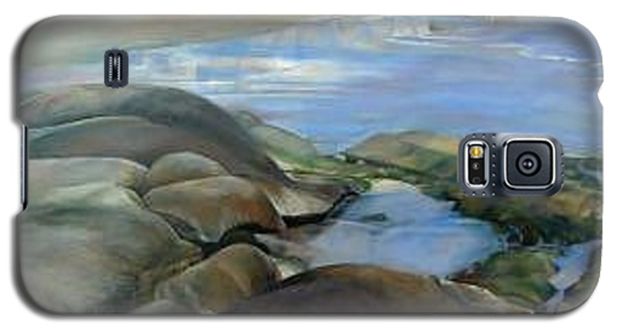 Paysage Galaxy S5 Case featuring the painting Bretagne 1 by Muriel Dolemieux