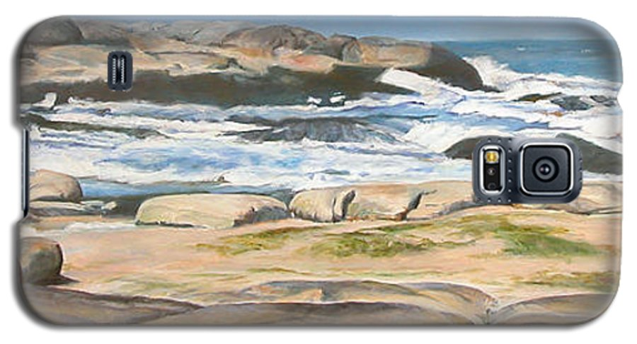 Paysage Galaxy S5 Case featuring the painting Bretagne 2 by Muriel Dolemieux