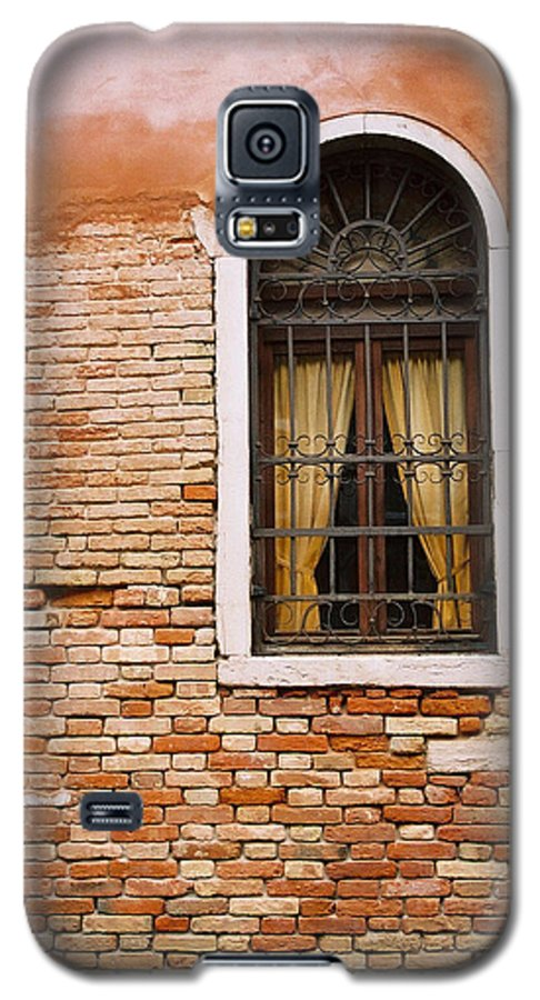 Window Galaxy S5 Case featuring the photograph Brick Window by Kathy Schumann