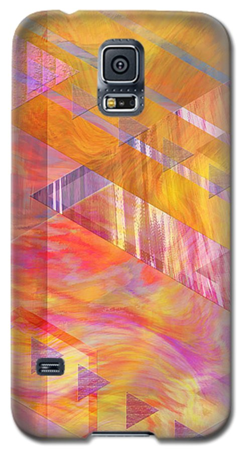 Affordable Art Galaxy S5 Case featuring the digital art Bright Dawn by John Beck