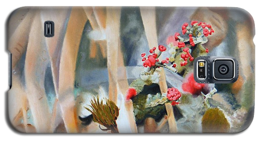 Nature Galaxy S5 Case featuring the painting British Soldiers by Dave Martsolf