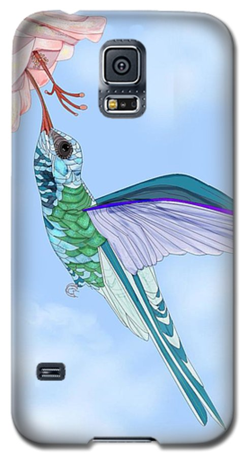 Hummingbird Galaxy S5 Case featuring the painting Broadbilled Hummer by Anne Norskog