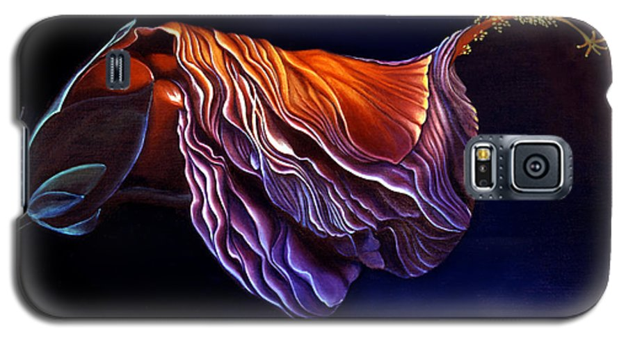 Flower Painting Galaxy S5 Case featuring the painting Brused Hibiscus by Anni Adkins