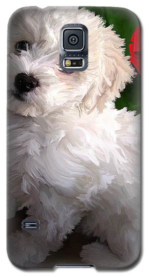 Bichon Friese Galaxy S5 Case featuring the painting Bryce by David Wagner
