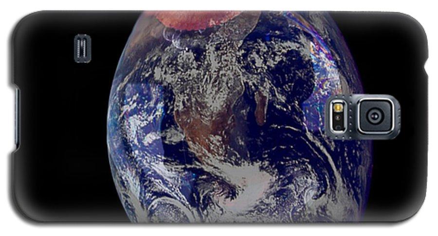 Earth Galaxy S5 Case featuring the photograph Bubble Earth by Jim DeLillo