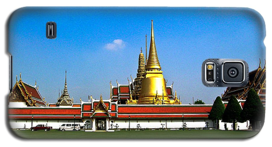 Buddha Galaxy S5 Case featuring the photograph Buddhaist Temple by Douglas Barnett