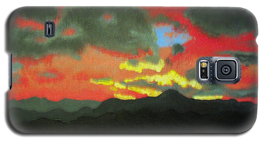 Sunset Galaxy S5 Case featuring the painting Buenas Noches by Marco Morales