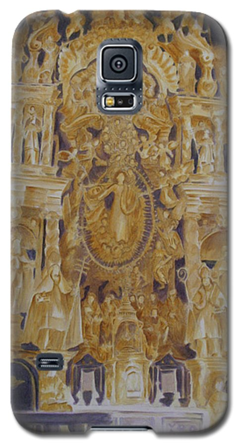 Saints Galaxy S5 Case featuring the painting Builders' Guild by Nik Helbig