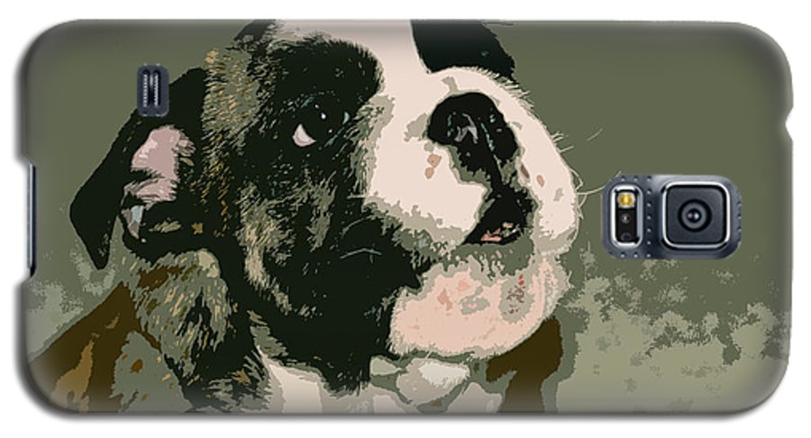 English Bulldog Galaxy S5 Case featuring the photograph Bulldog Puppy by Geoff Jewett