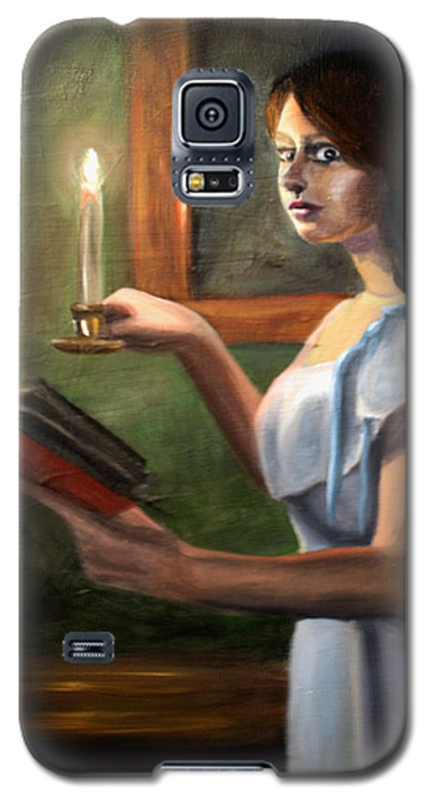 Night Galaxy S5 Case featuring the painting Bump In The Night by Maryn Crawford