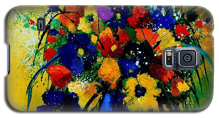 Poppies Galaxy S5 Case featuring the painting Bunch 0508 by Pol Ledent