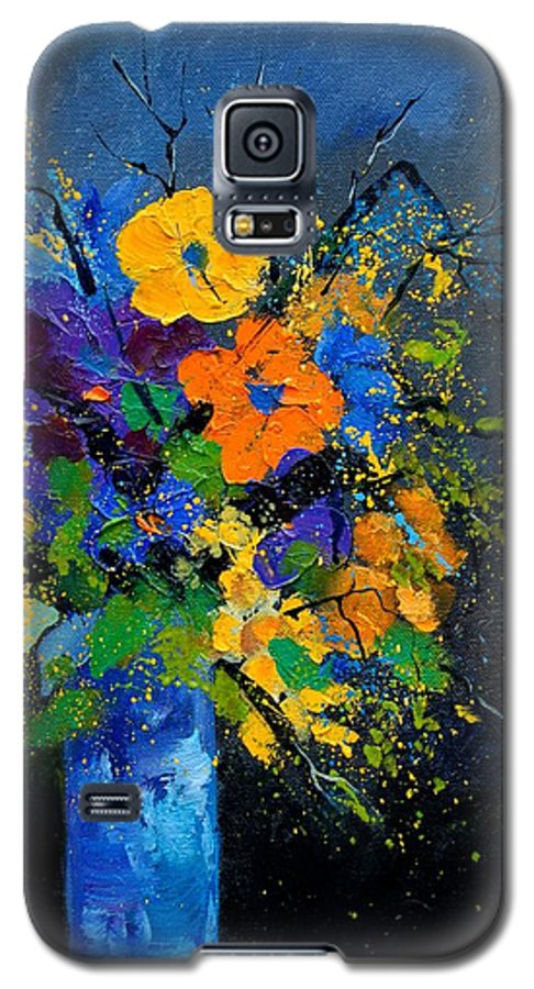 Poppies Galaxy S5 Case featuring the painting Bunch 1007 by Pol Ledent