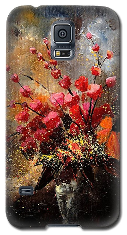 Poppies Galaxy S5 Case featuring the painting Bunch 1207 by Pol Ledent