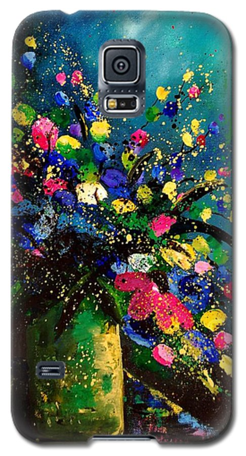 Poppies Galaxy S5 Case featuring the painting Bunch 45 by Pol Ledent