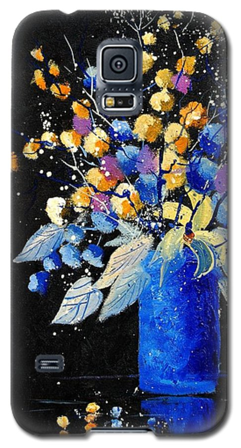 Flowers Galaxy S5 Case featuring the painting Bunch 451008 by Pol Ledent