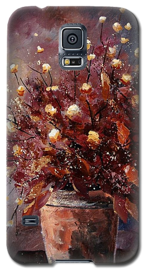 Poppies Galaxy S5 Case featuring the painting Bunch 56 by Pol Ledent