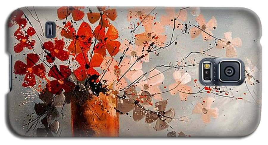 Flowers Galaxy S5 Case featuring the painting Bunch 670908 by Pol Ledent