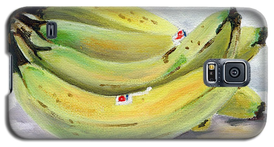 Still-life Galaxy S5 Case featuring the painting Bunch Of Bananas by Sarah Lynch