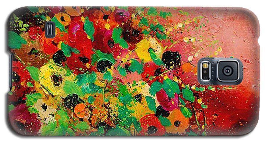 Flowers Galaxy S5 Case featuring the painting Bunch Of Flowers 0507 by Pol Ledent