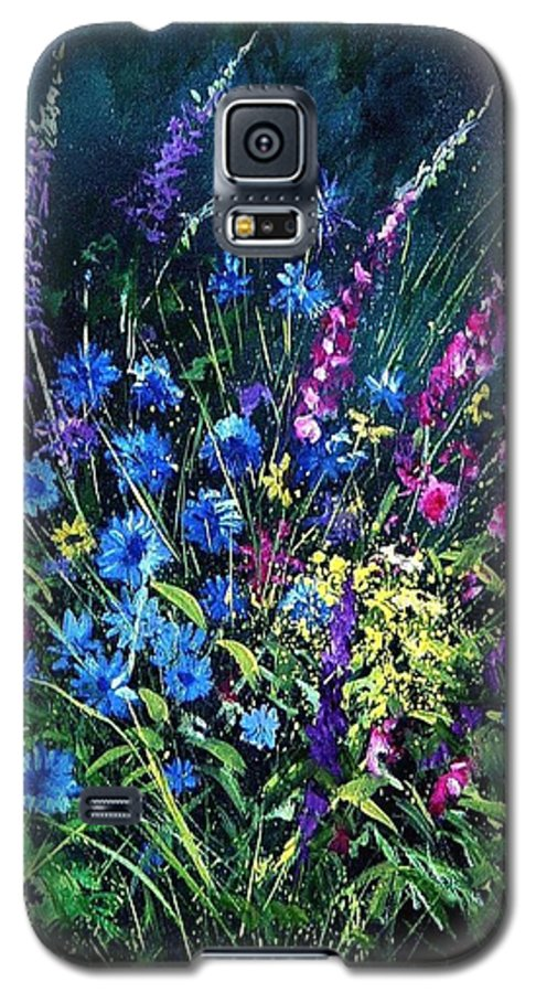 Poppies Galaxy S5 Case featuring the painting Bunch Of Wild Flowers by Pol Ledent