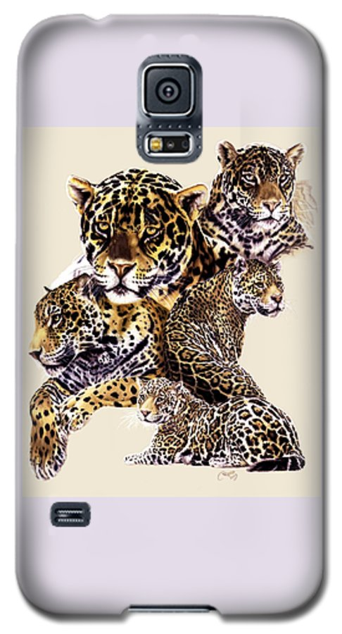 Jaguar Galaxy S5 Case featuring the drawing Burn by Barbara Keith