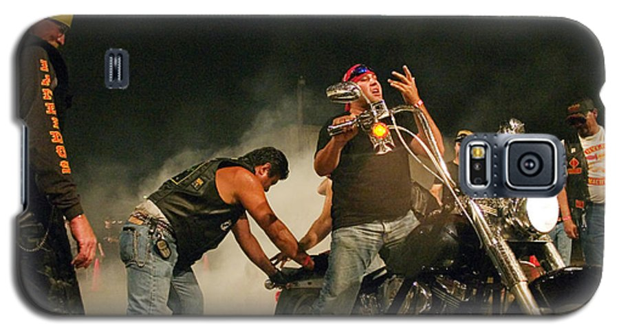Biker Galaxy S5 Case featuring the photograph Burn Out by Skip Hunt
