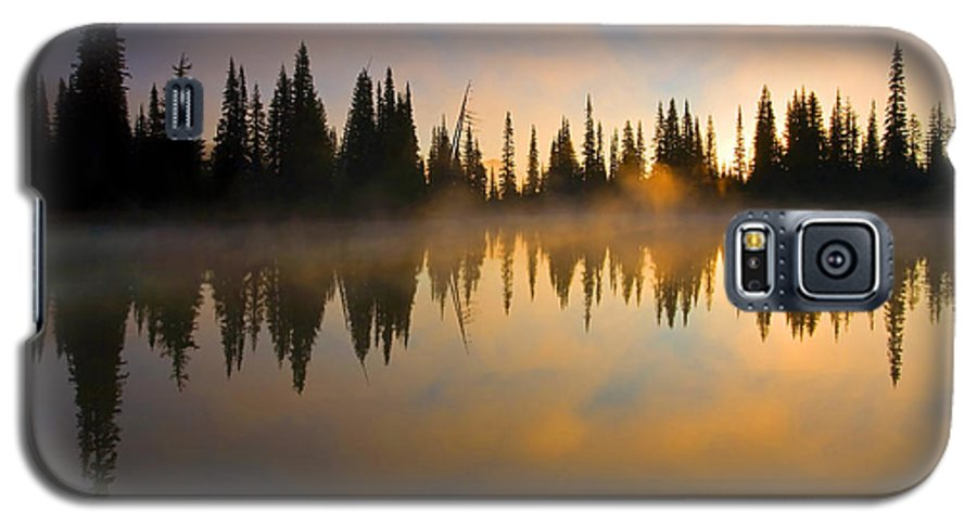 Lake Galaxy S5 Case featuring the photograph Burning Dawn by Mike Dawson