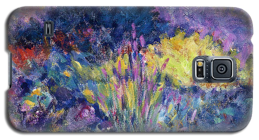 Impressionism Galaxy S5 Case featuring the painting Burst Of Color-last Night In Monets Gardens by Tara Moorman